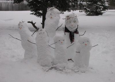 Domaine Kaaloo - Bonhommes de neiges